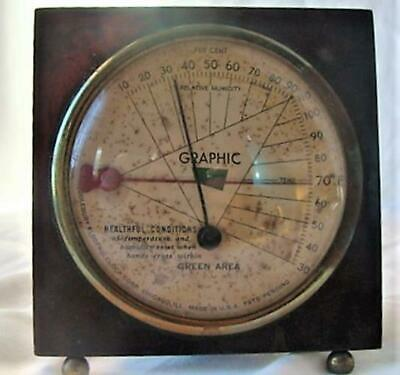 Vintage Middlebury Electric Co Twin Needle Graphic Barometer Very Cool Steampunk