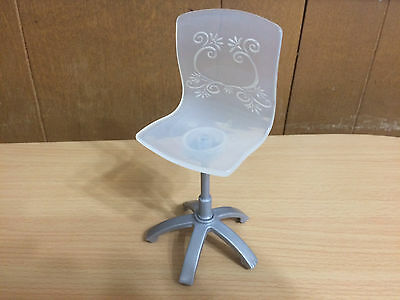 Barbie Doll House Computer Desk White Manager Chair Office Room Furniture Decor