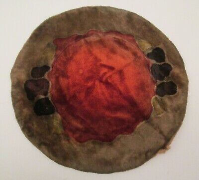 American Arts & Crafts Painted Velvet Decorative Table Mats
