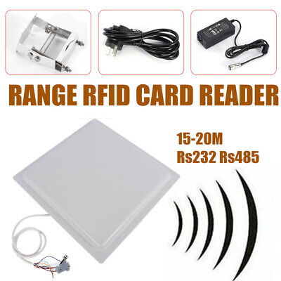 IP65 Integrated 15M Long Range UHF RFID Card reader Fit RS232/RS485/Wiegand26 DE