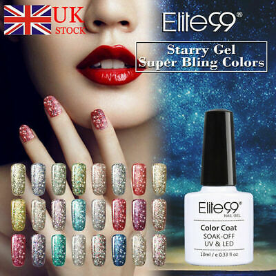 Soak Off Starry Glitter Gel Nail Polish Manicure Elite99 Lacquer Top Base Coat