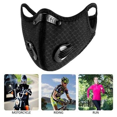 Antibacterial Sport Face Cover Dustproof Activated Carbon Exhaust Workout Shield