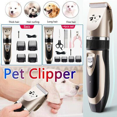 Electric Pet Professional Dogs Cats Grooming Clippers Hair Trimmer Shaver Kit UK