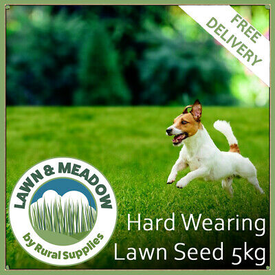 Hard Wearing Grass Seed for Garden Lawns 5KG  - FAST GROWING & MULTI-PURPOSE
