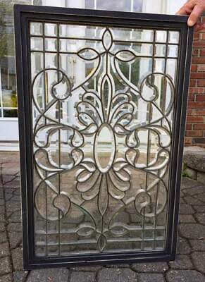 Antique American  BEVELED LEADED ( stained ) WINDOW c. 1890 -1900