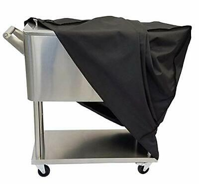 Cooler Cart Cover, Universal Outdoor Waterproof Protective Cover Fit (black)