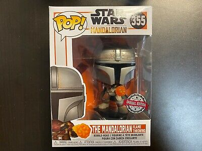 Funko POP Star Wars The Mandalorian Flame Throwing Exclusive IN HAND