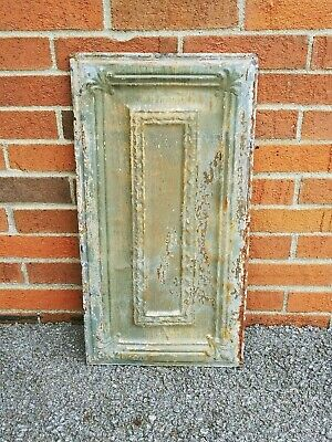 "Antique Painted Metal Tin Ceiling Tile 24"" X 12"" Sheet Panel Reclaim Salvage"