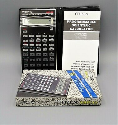 Calculadora Citizen SRP-45 programmable scientific pocket calculator año 1991
