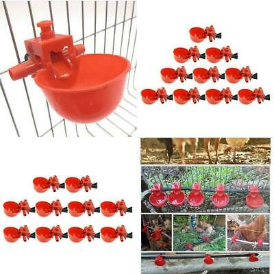 20PCS Poultry Water Drinking Cup Chicken Hen Plastic Automatic Drinker Quail