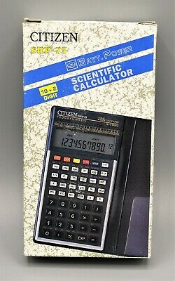 Calculadora Citizen SRP-75 programmable scientific pocket calculator año 1993