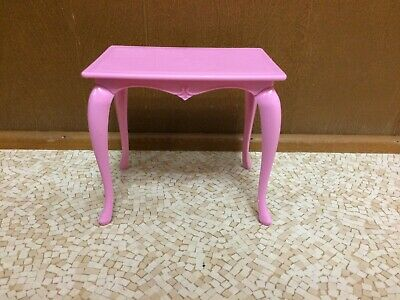 Barbie Doll Living Room Office Pink Table Dining Room Home Furniture Accessory