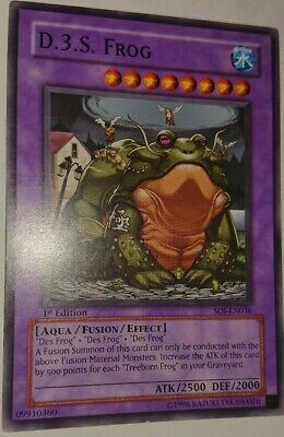 Mint D.3.S Frog Near Mint Condition YUGIOH Card