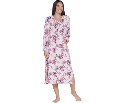 Cuddl Duds Comfortwear Lounger with Hood-Scatter Floral-Large A310298 NEW