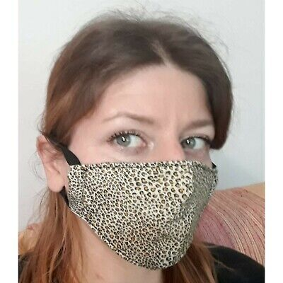 Cotton fabric face mask, washable, reusable, Handmade , Pollution, maculata mask