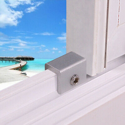 3PC Window Locks Security Rail Aluminum Alloy Sliding Moving Window Safety Tool