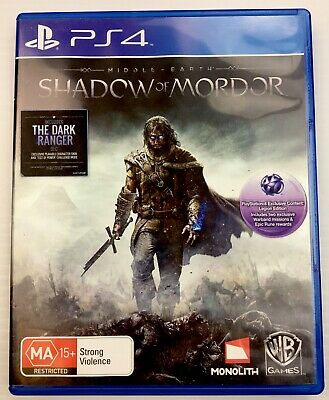 Middle Earth: Shadow Of Mordor (Sony PlayStation 4 PS4) PAL R4 with Tracking