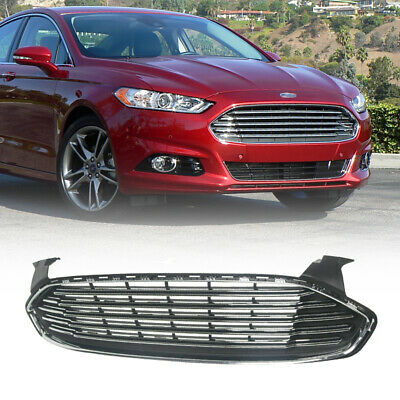 Fit Ford Fusion/Mondeo 2013-2016 Front Bumper Upper Chrome Radiator Grille Grill