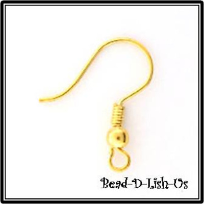 French Earring Hooks ear DIY findings Gold Plated - Choose Your Quantity