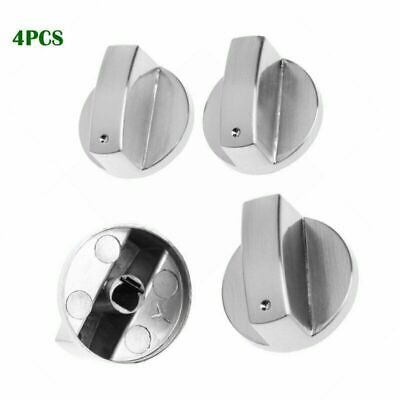 INDESIT Chrome Oven Knob Silver Gas Hob Cooker Universal Switch Knobs Adaptors