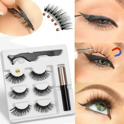 Eyeliner Liquid Magnetic False Eyelashes Tweezer Set Eye Lashes Kit 03kK