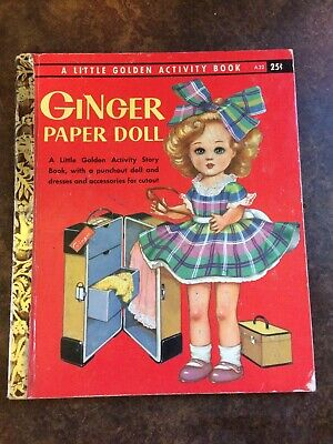 Vintage 1957 Ginger Paper Doll A Little Golden Activity Book