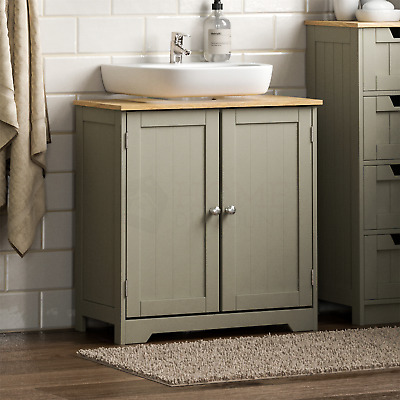 Priano Bathroom Sink Cabinet Under Basin Unit Cupboard Storage Furniture Grey