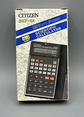 Calculadora Citizen SRP-65 programmable scientific pocket calculator año 1992