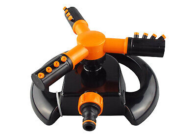 Rotating 3 arm,no fuss lawn sprinkler,hozelock compatible