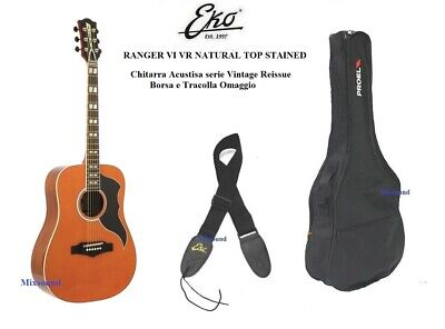 EKO Ranger VI VR NATURAL TOP STAINED CHITARRA ACUSTICA VINTAGE + BORSA TRACOLLA