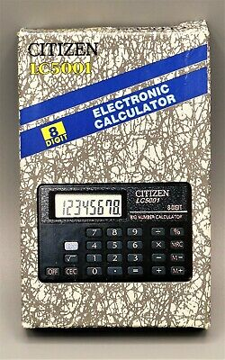 Calculadora Citizen LC5001 electronic calculator, Calculadora vintage año 1991