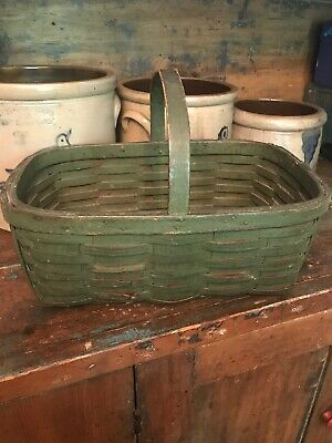 Early Old Country Farm  Basket Beautiful Paint