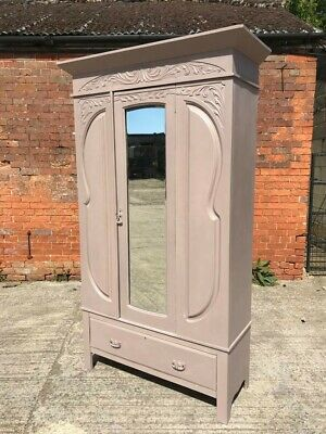 Stunning Art Nouveau Mirrored Wardrobe