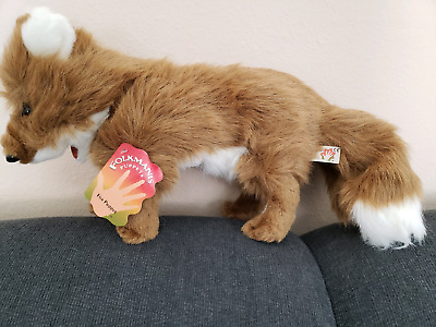 Folkmanis Fox Puppet LARGE Full Body Moveable Mouth with tag Teacher Tool