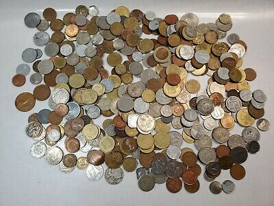 LOT Over 3 pounds Foreign/World Coin 1940s-2000s various condition FREE SHIPPING