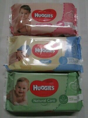 "HUGGIES ""Skin Loving Natural Fibres"" Baby Wipes 56 Towelettes per 1 Package"