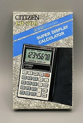 Calculadora Citizen LH-700 super display calculator Calculadora vintage