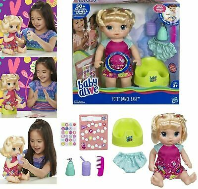 Baby Alive Potty Dance Baby Girls Talking Doll W/Accessories 50 Sounds & Phrases