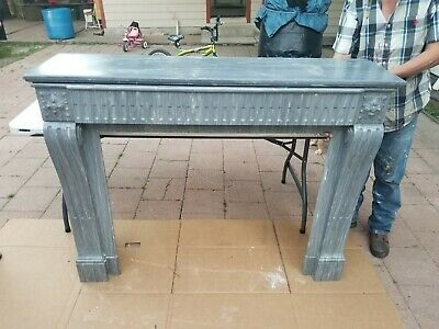 Antique Marble Fireplace Surround Mantle Architectural Salvage