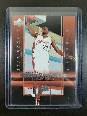 2003-04 Upper Deck LEBRON JAMES RC Rookie Exclusives Card #1 Rare Star HOT HOF