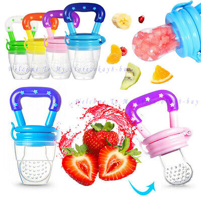 Baby Safe Feeding Pacifier Fresh Food Fruits Feeder Dummy Soother Weaning Nipple