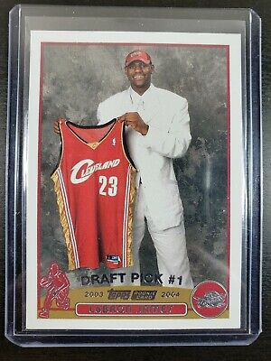 2003-04 Topps LEBRON JAMES RC Rookie Card #221 Rare #1 Draft Pick HOT HOF Invest