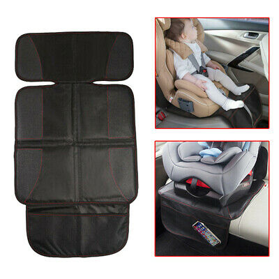 Black Car Seat Cover Mat Carseat Thickest Padding Leather Fabric Seat Protector