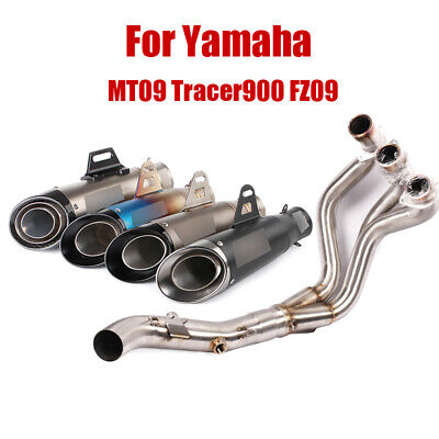 For Yamaha MT09 FZ09 Tracer900 Exhaust System Front Link Pipe Muffler Tips 51mm