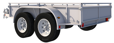8' x 5' TWIN WHEEL UTILITY TRAILER SELF-BUILD PLANS.