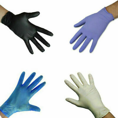 100Pc Disposable Safety Gloves Powder Free Latex Free Tattoo Mechanic Valeting