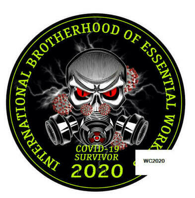 5 pack 2 inch Brotherhood of Essential Workers Hard Hat Stickers UBEW UAW ECT