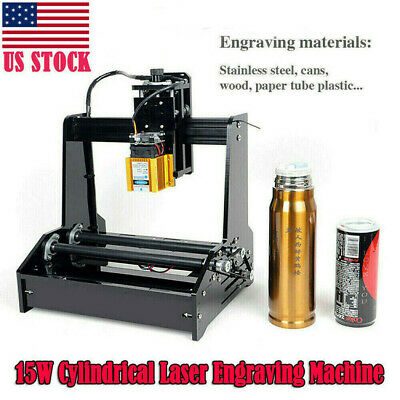 DIY Cylindrical Laser Engraving Machine Engraver Printer for Metal Steel Iron