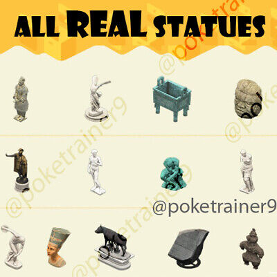 Animal Crossing New Horizons 🌸 REAL Jolly Redd Art ALL 13 Statues for MUSEUM