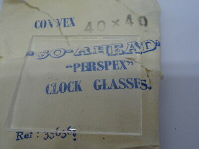 Vintage Replacement Clock Convex Go-Ahead Acrylic Glass (NOS) 40x40